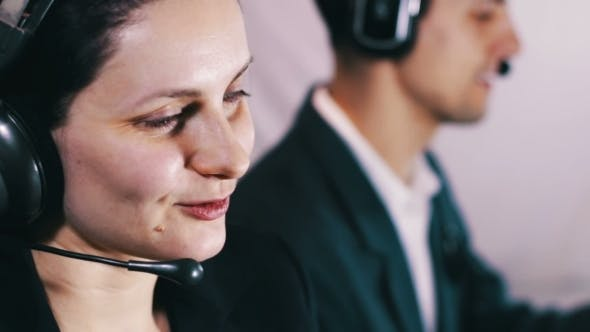 Thumbnail for Call Center Operator Talking With Client