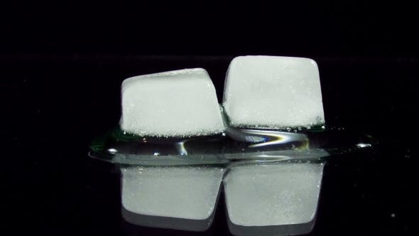 Thumbnail for Ice Cube Melting And Moving on A Glass Surface