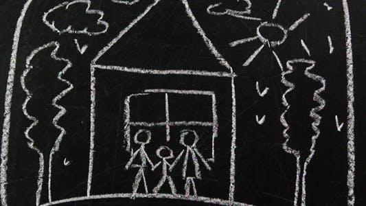 Thumbnail for Family Drawing On A Blackboard