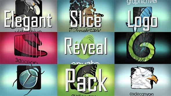 Thumbnail for Elegant Slice Logo Reveal Pack