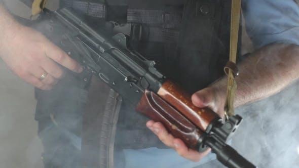 Thumbnail for A Policeman With a Machine Gun