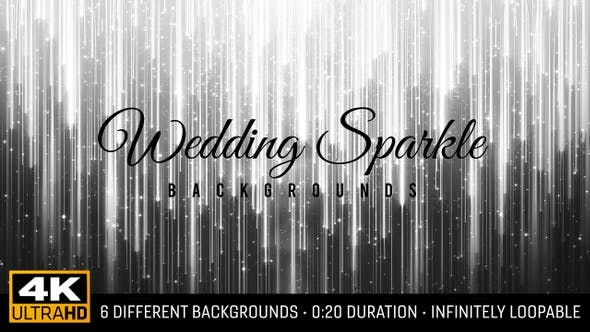 Wedding Sparkle Backgrounds 4K (6-Pack)