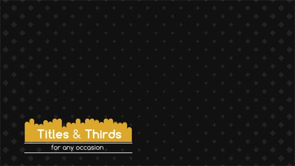 Thumbnail for Titles & Thirds