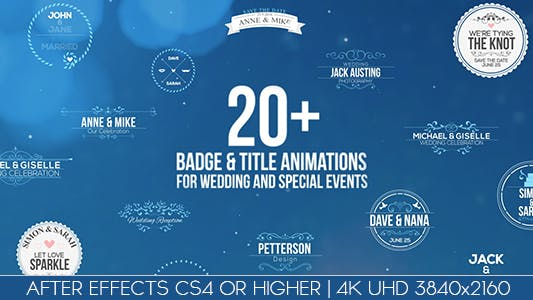 Thumbnail for Badges / Title Animations For Wedding And Special Events
