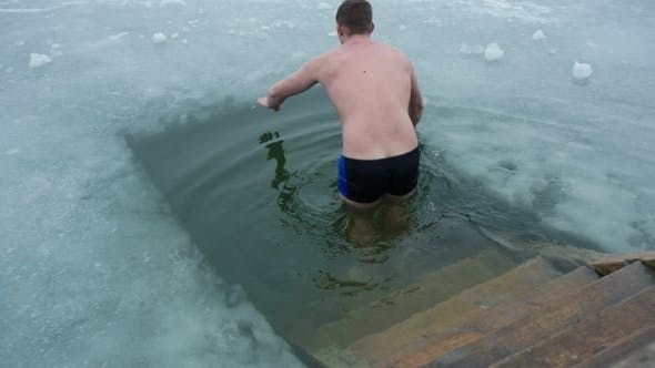 Thumbnail for Man Swimming In a Ice-hole