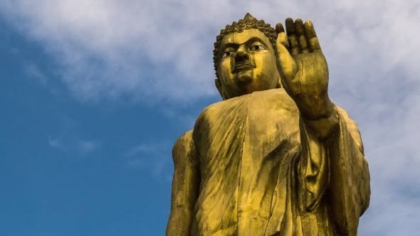 Thumbnail for Religious Statue Of Buddha And Blue Sky
