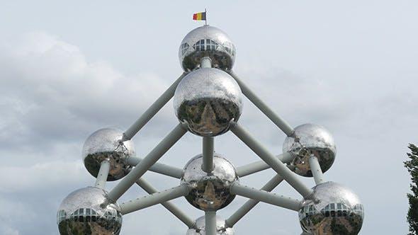 Thumbnail for View of Atomium, Landmark of Brussels, Belgium