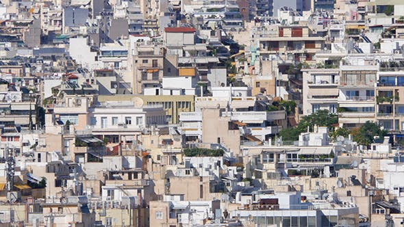 Thumbnail for Residential View of Dense Apartments of Athens, Greece
