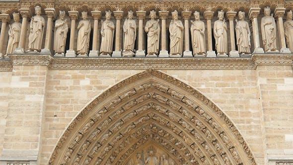 Thumbnail for View of Notre Dame De Paris Cathedral, France