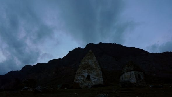 Thumbnail for Ancient Dolmen in The Background Of Dark Clouds