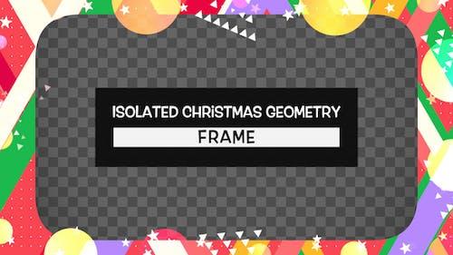 Isolated Christmas Geometry Frame