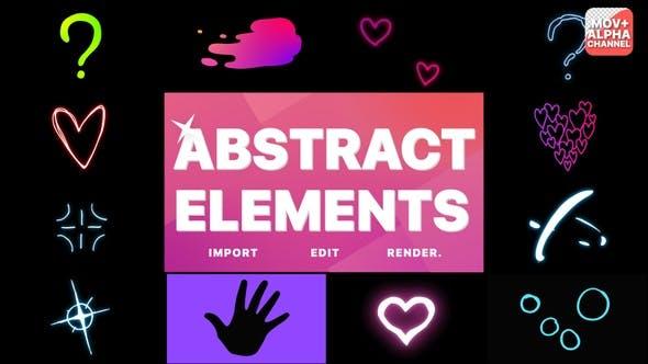 Pack abstrait   Graphiques animés