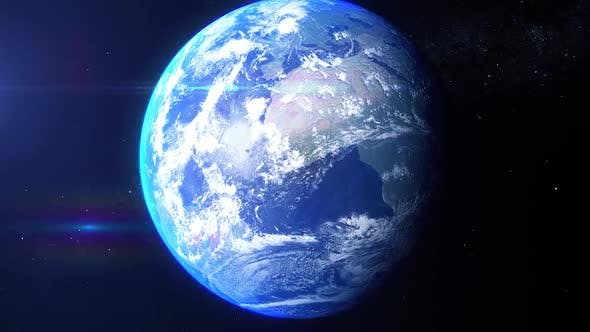 Realistic Earth Zoom Central United States