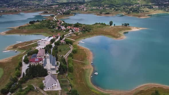 Thumbnail for Franciscan Monastery Of Rama Beside Ramsko Lake, Prozor Rama, Bosnia And Herzegovina V4