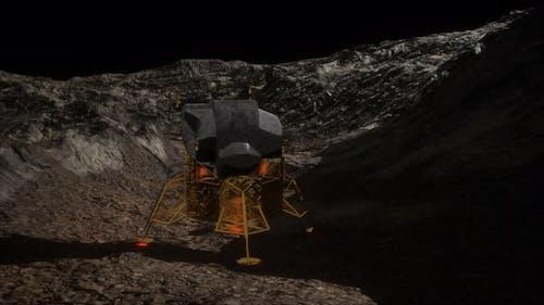 Lunar Landing Mission on the Moon