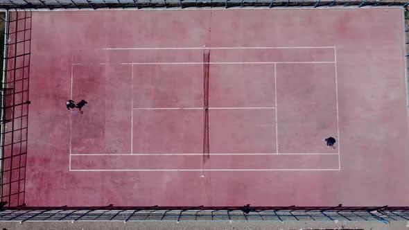 Tennis court Aerial View