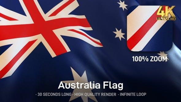 Thumbnail for Australien Flagge - 4K