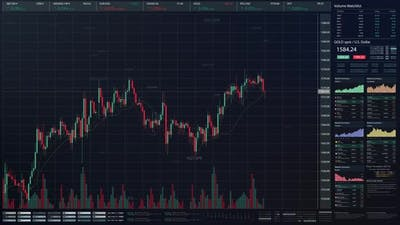 Stock Market Trading Screen Mockup 01