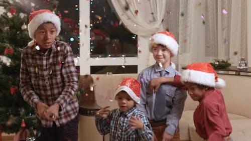 Children Scared of Christmas Petard.