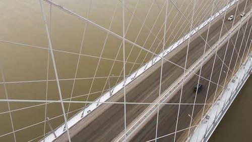Rope Automobile Bridge in Winter