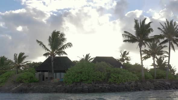 Houses in Tropics, View From Sailing Boat