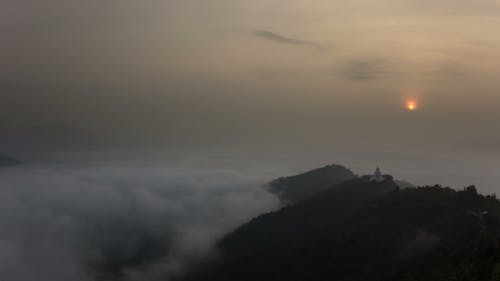 World Peace Pagoda at Sunrise