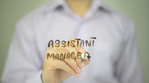 Thumbnail for Assistant Manager ,  Man Writing on Transparent Screen