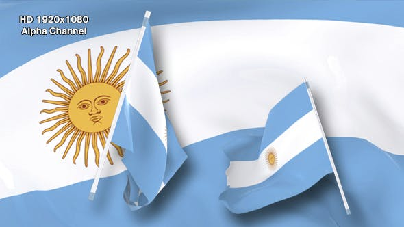 Flag Transition Argentina