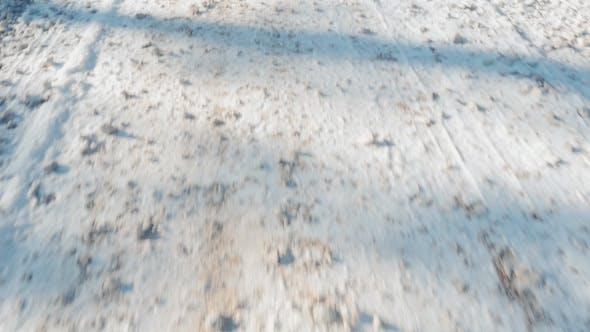 Thumbnail for Walking on Snowy Gravel Road