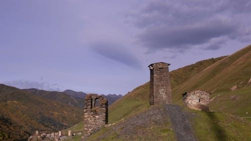 Georgian National Towers In Svaneti. Chazhashi, Georgia
