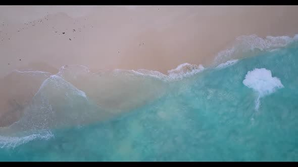 Thumbnail for Aerial nature of exotic lagoon beach adventure by blue ocean and clean sand background of adventure
