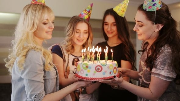 Thumbnail for Beautiful Girl Make a Wish Birthday Cake