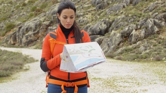Thumbnail for Active Attractive Woman Checking a Map