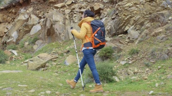 Thumbnail for Active Fit Young Woman On a Hiking Trail