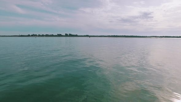 Thumbnail for Pan View Calm Water Surface In Ocean Gulf
