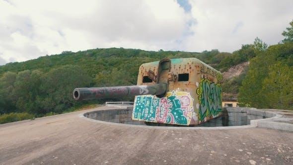 Thumbnail for Old Coastal Artillery With Modern Graffiti