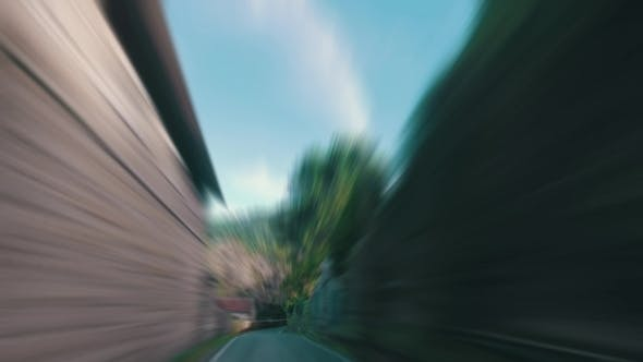 Thumbnail for Speedy Driving On a Narrow Road In Forest