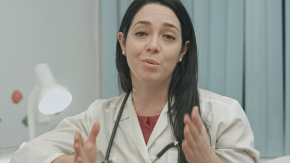 Thumbnail for Female Doctor Is Optimistic About The Results Of The Treatment