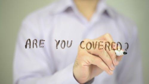 Sind Sie abgedeckt? Versicherungskonzept