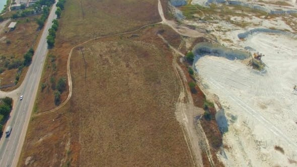 Driveway Near Open Mine In Bakhchisarai, Crimea