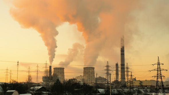 Thumbnail for Sonnenuntergang über dem Thermalkraftwerk