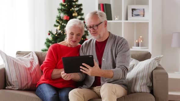 Thumbnail for Senior Couple Having Video Call on Christmas 56