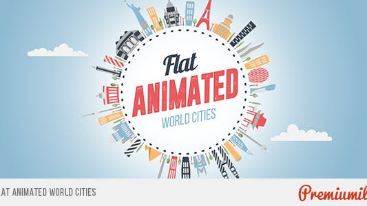 Thumbnail for Flat Animated World Cities