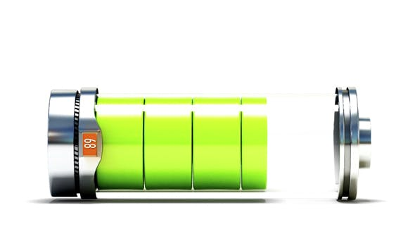 Thumbnail for Charging Battery Isolated on White Background