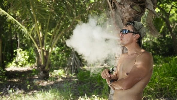 Cover Image for Man Smoking Electronic Cigarette