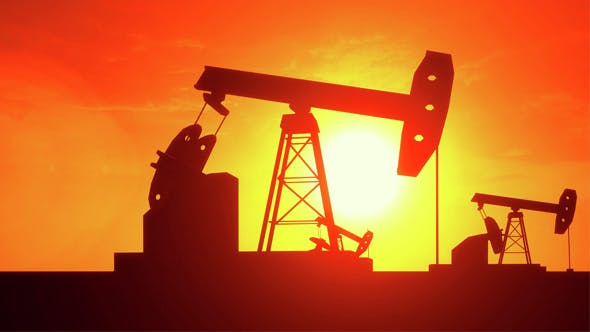 Thumbnail for Pumpjacks on Evening Sky Background