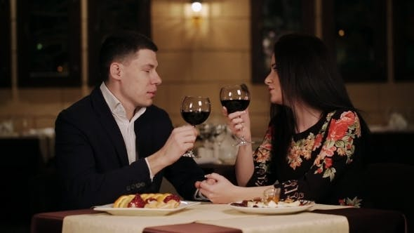 Thumbnail for Romantic Date Loving Couple In a Restaurant