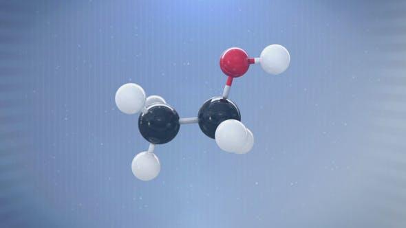3D Molecule (Ethanol)