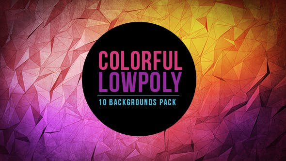 Thumbnail for Bright and Colorful Lowpoly Background Pack