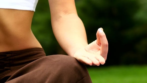 Thumbnail for Woman Meditates In Park